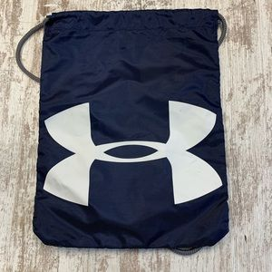 Under Armour blue and gray string backpack bag
